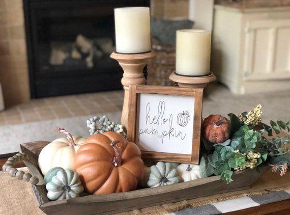 Hello pumpkin sign, fall sign, autumn sign, gift