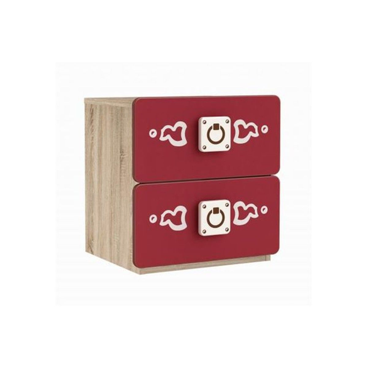 Table De Chevet Pirate table de chevet rouge motif pirate caribea | table de chevet