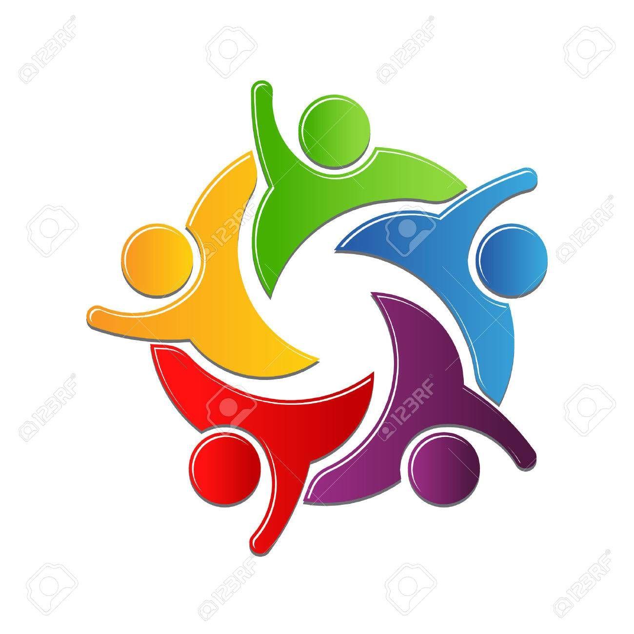 Stock Vector Circle logo design, Logos design, People logo