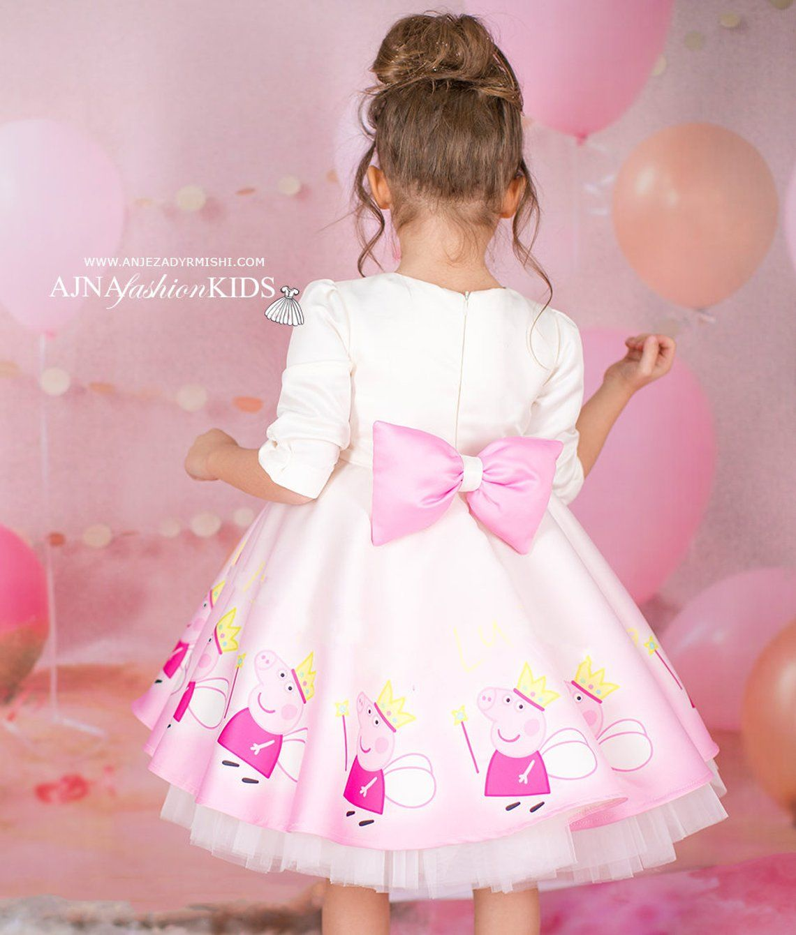 Peppa pig dress , peppa pig birthday, peppa pig birthday dress, peppa pig costume