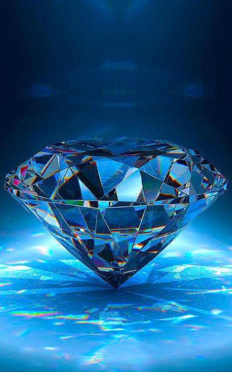 Blue Diamond Bright Wallpaper For IPhone High Resolution
