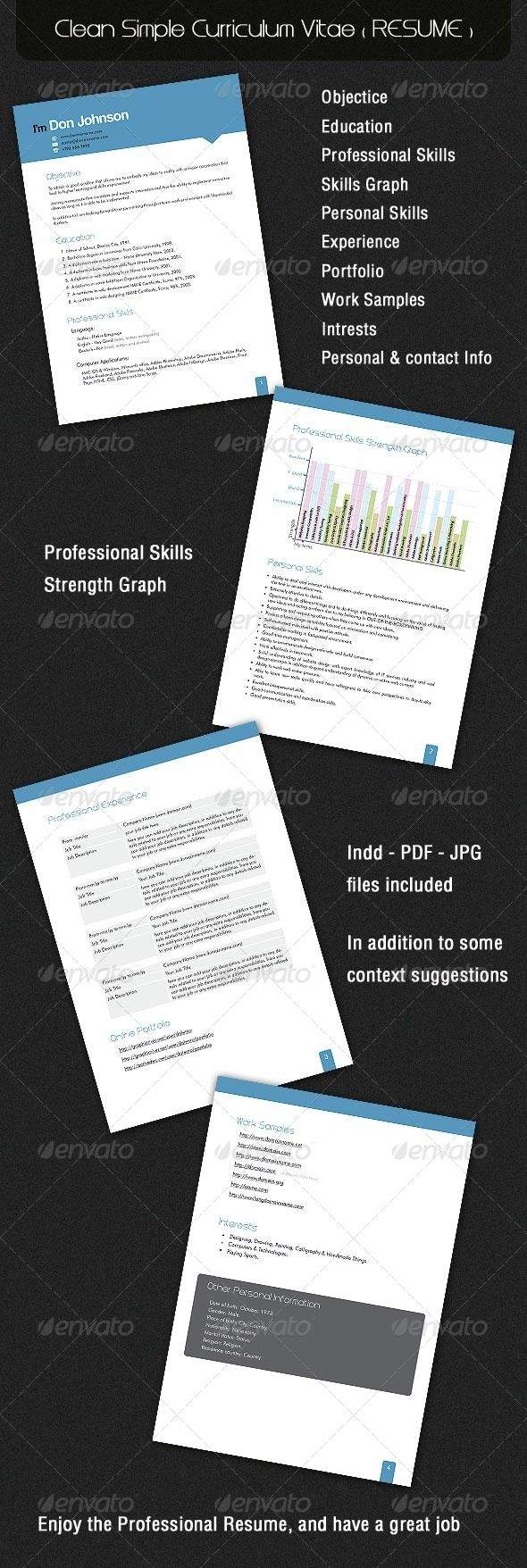 Clean Simple Curriculum Vitae ( RESUME ) | Resume cv, Print ...