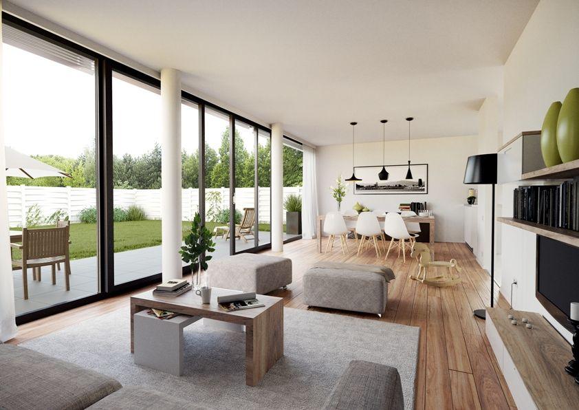 Moderne häuser innen wohnzimmer  achat161_innen_2012_10_02_01.jpg 842×596 Pixel #fenster #säule ...
