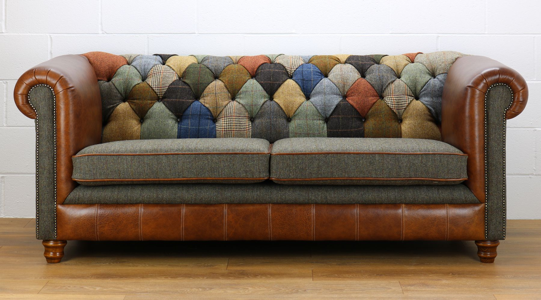 Harris Tweed Chesterfield Patchwork Sofa Patchwork Sofa Patch
