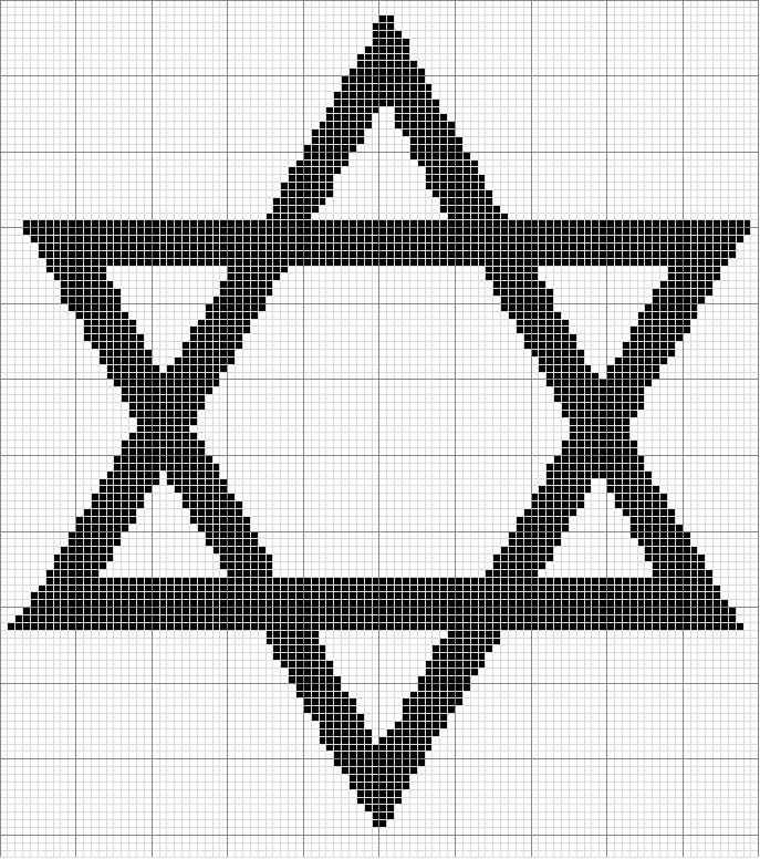 Angels Crochet - Star of David 2 Chart   Cross stitch   Pinterest ...