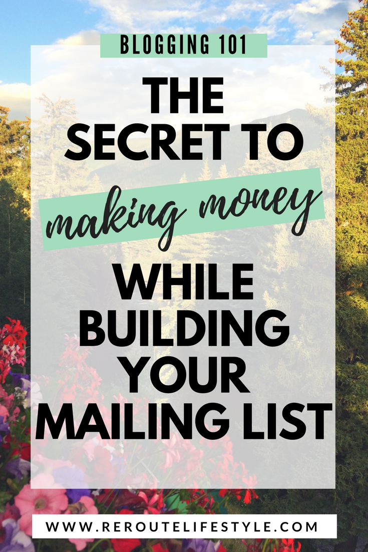 So you've read all about sending emails to your mailing list, tips for growing your mailing list, but did you know you can make money while you grow your mailing list? And it's practically passive income! Check out this beginner's guide.