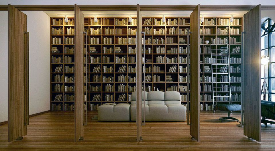 modern large home library design | home library | pinterest