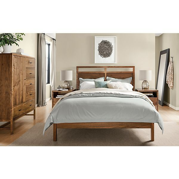 Berkeley Bedroom Collection In Walnut   Modern Bedroom Furniture   Room U0026  Board