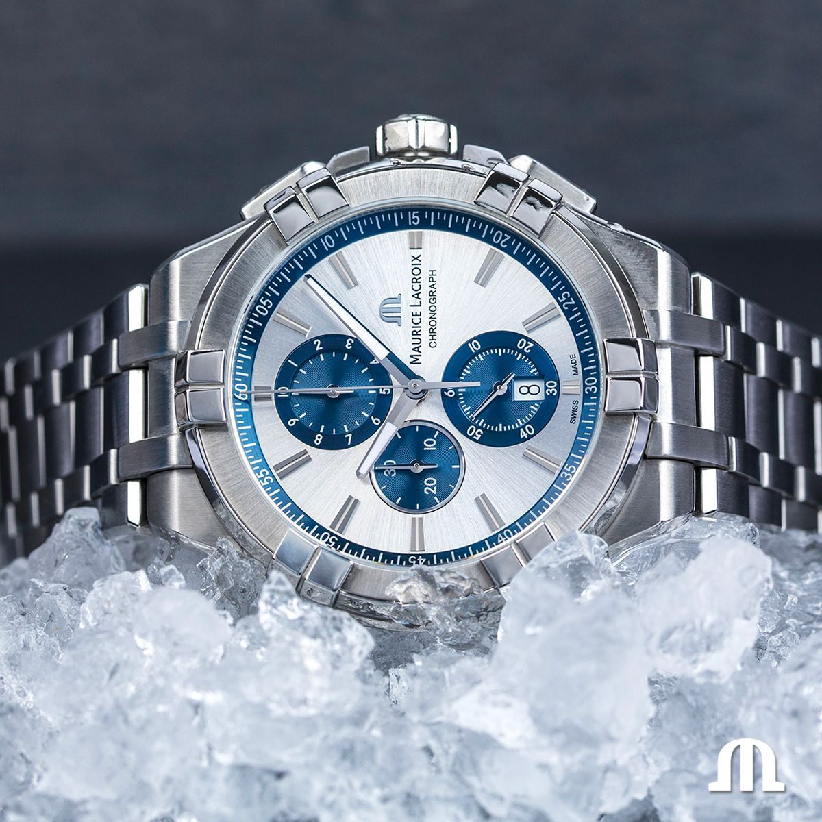 Maurice Lacroix @Maurice_Lacroix This winter, fight off the cold in style with the Aikon Chronograph.
