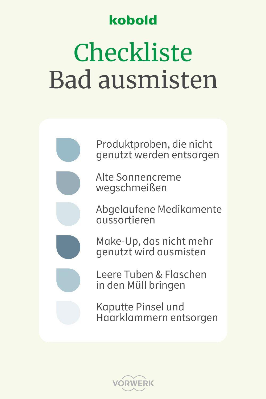 Kostenlose Checkliste   Plan Bad ausmisten   Übersicht Badezimmer ...