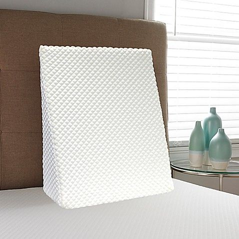 Therapedic Tru Cool Conventional Foam Bed Wedge Pillow In White