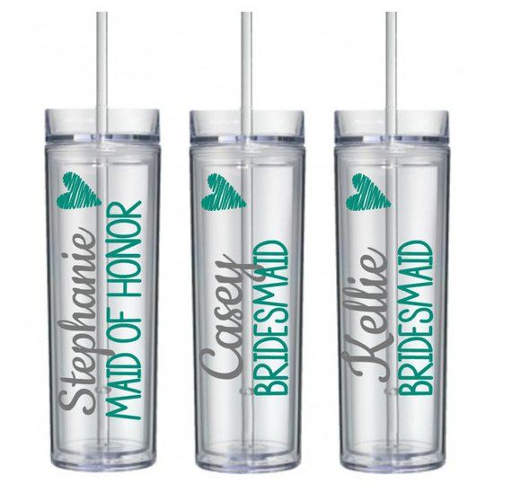 6a3313212c7 5 Tumblers, Personalized Cups, Tumblers with Name, Bridesmaid Cups, Bridal  Party Tumbler Gifts, Wedd
