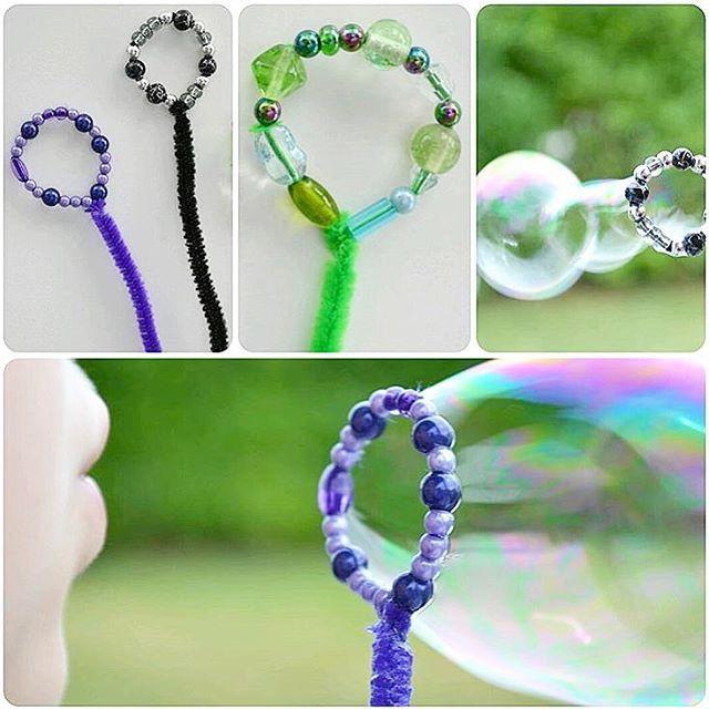 Se så fina såpbubbelringar @tipsochtrix_ gjort av piprensare och pärlor Dessa…