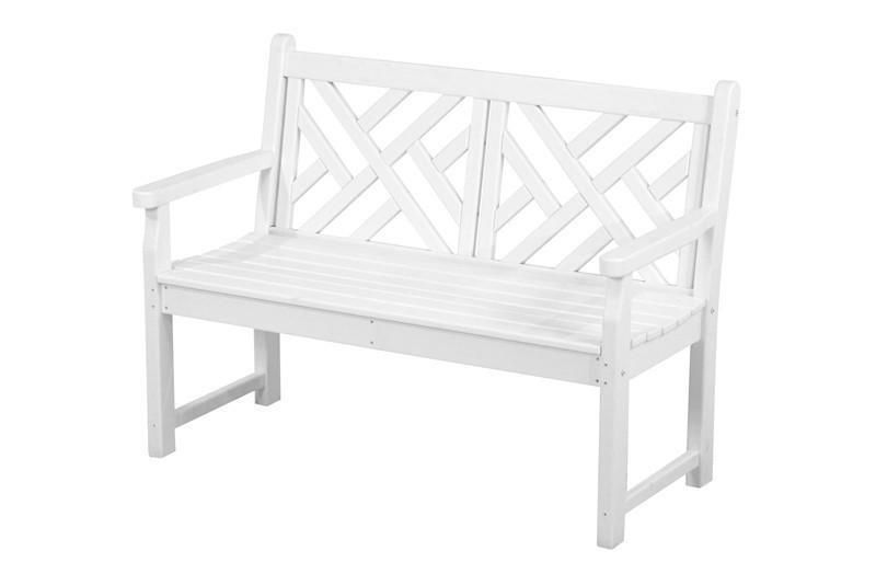 Miraculous Polywood Cdb48Wh Chippendale 48 Bench In White In 2019 Pdpeps Interior Chair Design Pdpepsorg