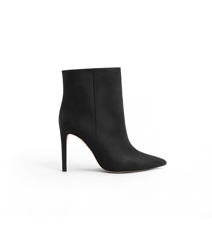 Mango Heel Leather Ankle Boots. The pointed toe silhouette will elongate  your legs for days
