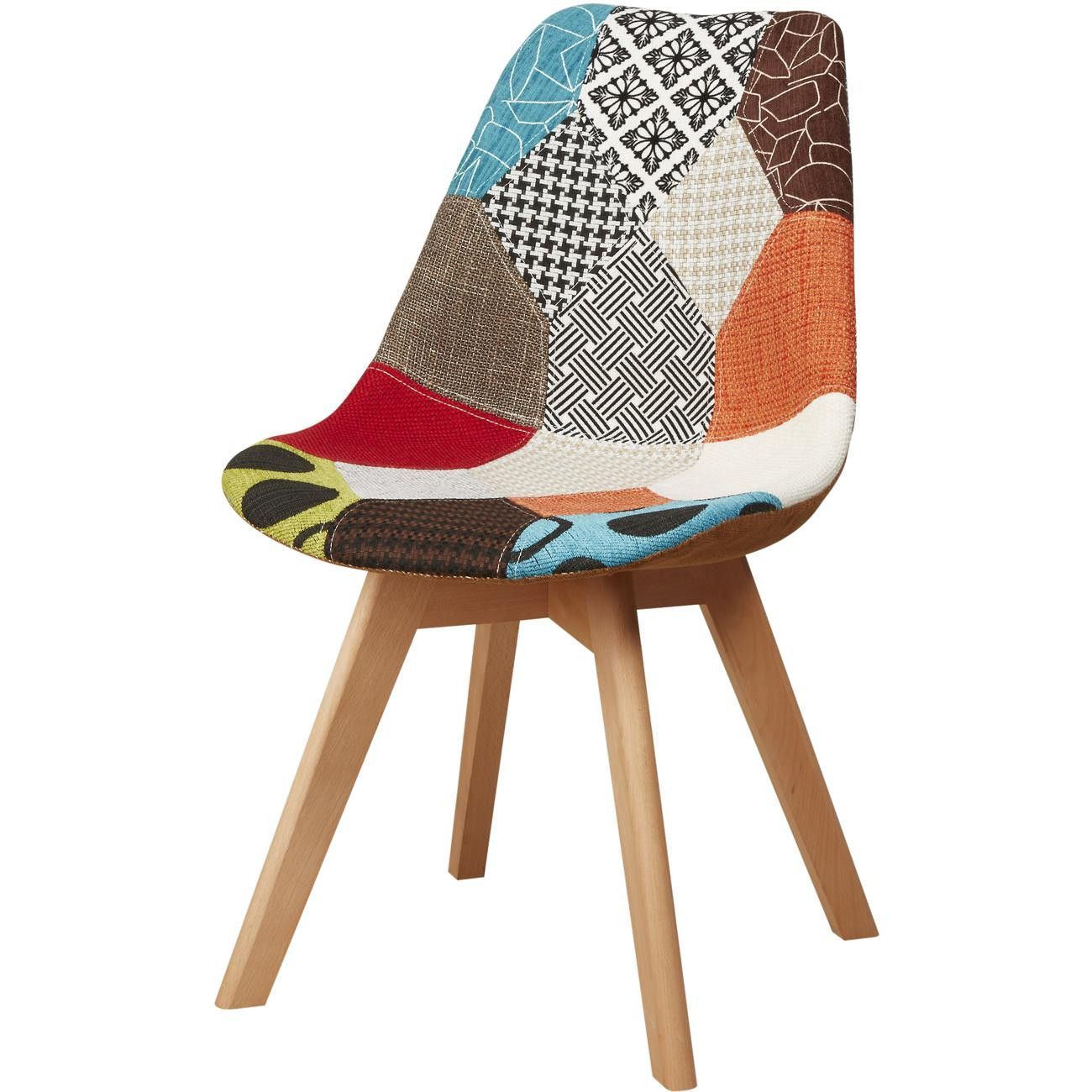 Chaise Mexican Patchwork Style Scandinave Bobochic En 2020 Chaise En Patchwork Chaise Tissu Chaises Retro