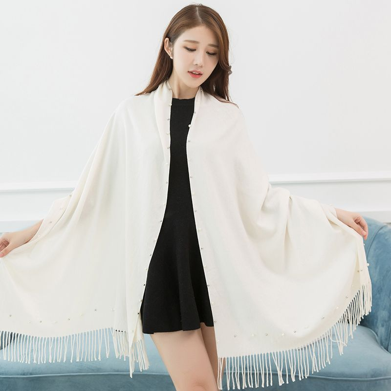 53c15602b551a 2017 winter solid color pearl fake cashmere india pashmina scarves pashmina  shawls of pakistan pashmina ponchos
