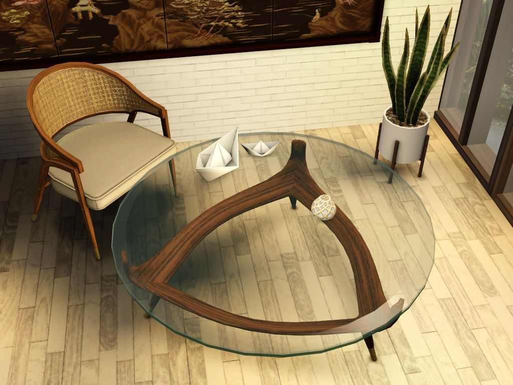 Ruby Red Simblr Gelinagelina Triangle Coffee Table