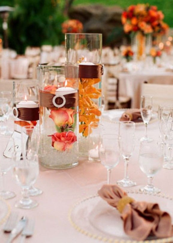cool inexpensive outside wedding centerpieces with flowers
