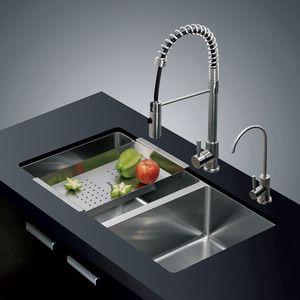 Modern Double Bowl Under Mount Stainless Steel Kitchen Sinks