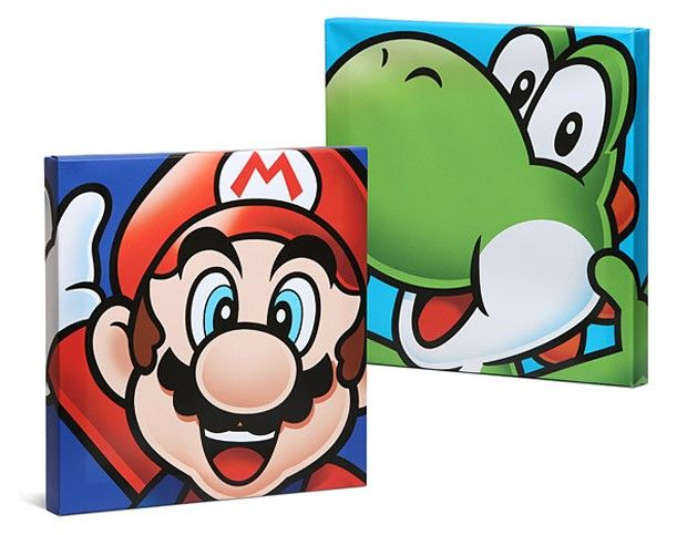 Mario Canvas Art Makes Me Want To Play Mario Kart Geek Decor Mario Room Mario