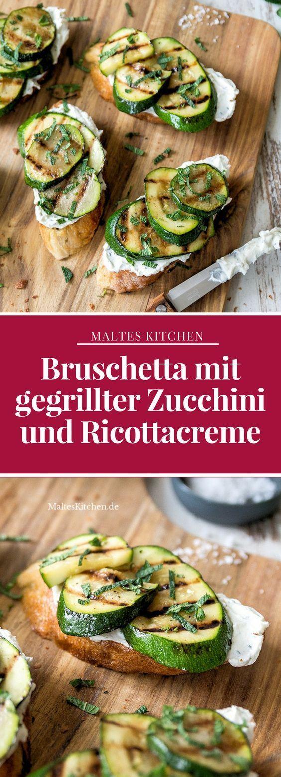 Photo of Bruschetta with grilled zucchini and ricotta cream