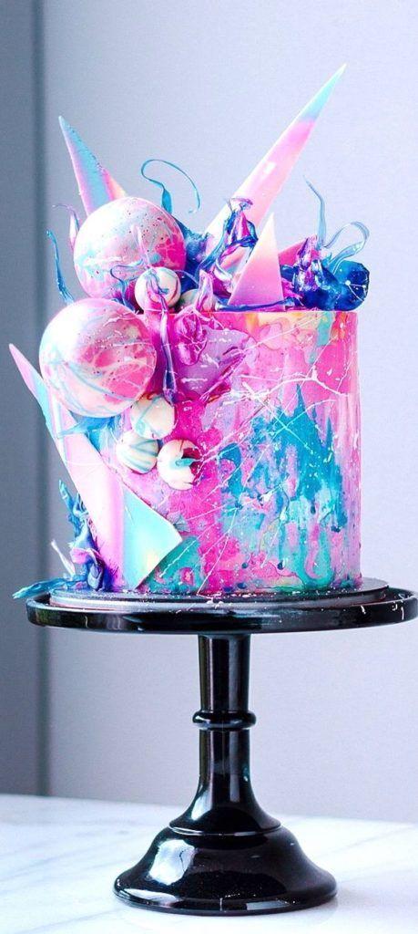 Top 15 Watercolour Cakes -   15 crazy cake Designs ideas