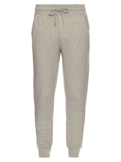 Complete an understated downtime look with Moncler's light-grey cotton-jersey track pants.