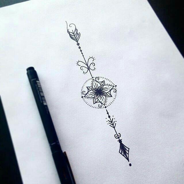 With Lotus In Middle Tats Tatouage Tatouage Fleche Tatouage Soeurs