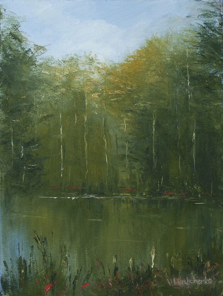 FOREST LAKE, 2014 Oil on canvas 40×30 cm.