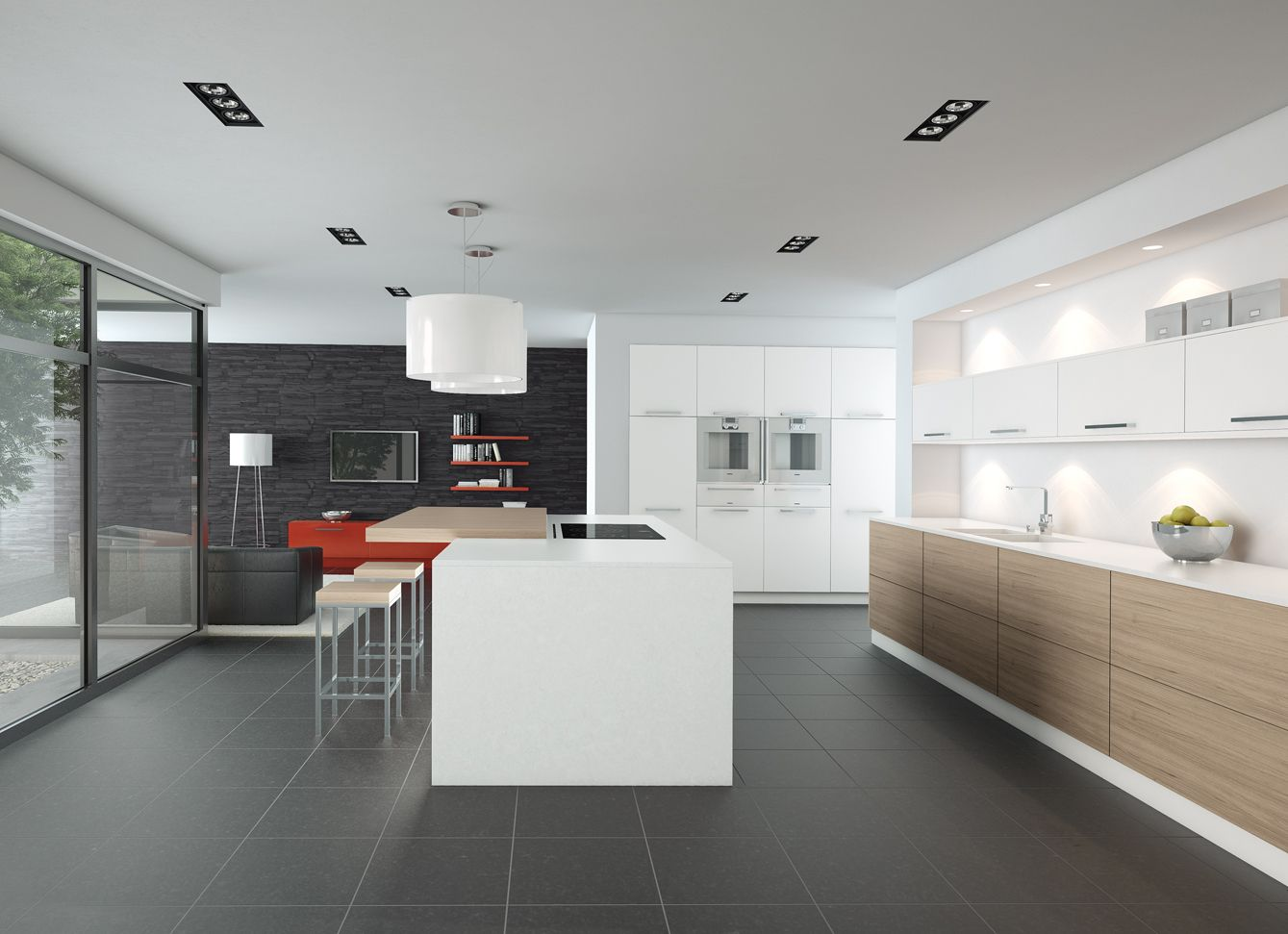 White Kitchen Oak white oak kitchen kitchen pronorm german kitchens proline kitchen