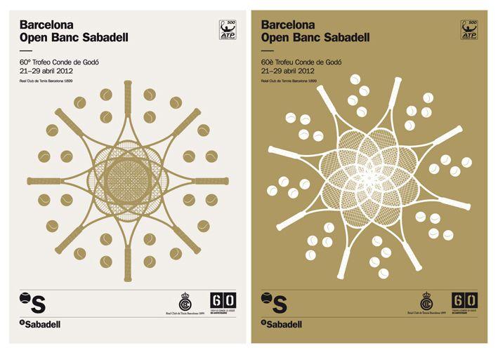 Open Banc Sabadell. Carteles. Barcelona 2012. Mario Eskenazi + Jaime Vicente + Dani Rubio