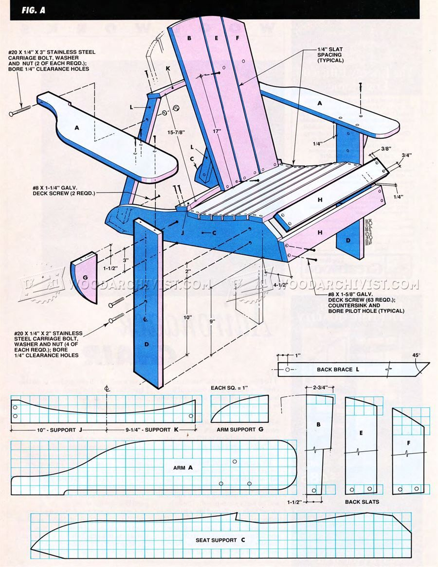 Classic Adirondack Chair Plans - Outdoor Furniture Plans ...