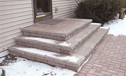 Patio Stone Steps Kitchens Outdoor Living In