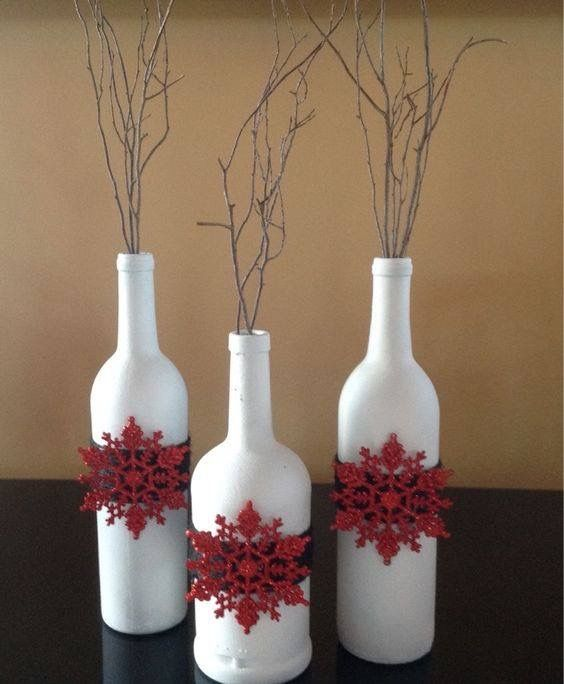 Glass Bottle Decoration For Christmas Home Decor  Home Decor  Pinterest  Bottle Wine Bottle Crafts