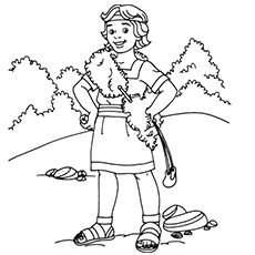 David And Goliath Coloring Pages Lds