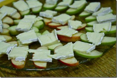Apple and brie bites
