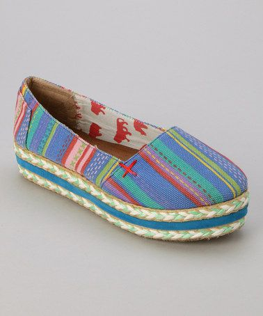 Take a look at this Blue Summer 18 Platform Shoe by Yoki on #zulily today!