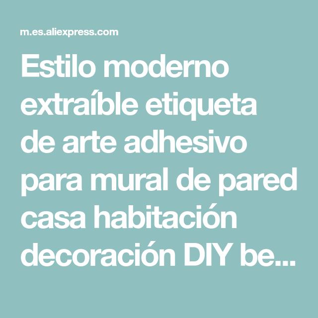Estilo moderno extraíble etiqueta de arte adhesivo para mural de pared casa habitación decoración DIY bebé niño niños habitaciones papel pintado casa Decoración
