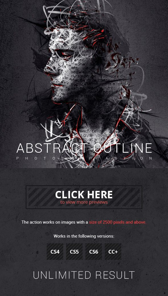 Abstract Outline Photoshop Action   Photoshop Actions