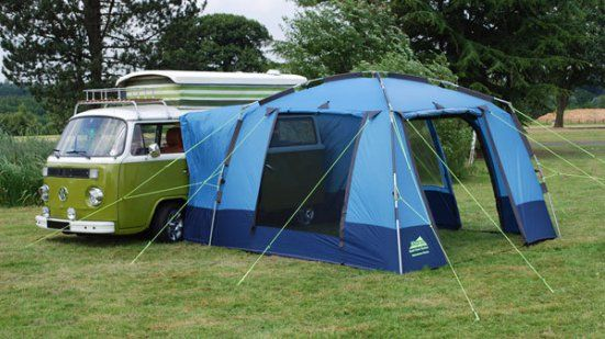 A bay c&er with a more modern side tent. & A bay camper with a more modern side tent. | Travel u0026 moving tips ...