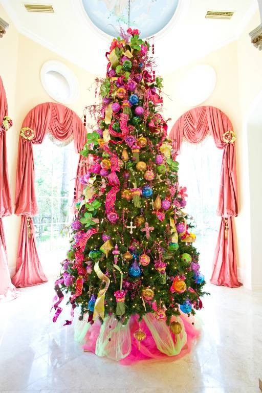 Amazing Colorful Christmas Trees Ideas Part - 14: 28 COLOURFUL CHRISTMAS DECORATING IDEAS FOR A FRESH LOOK. Colorful Christmas  DecorationsColorful Christmas TreeXmas ...