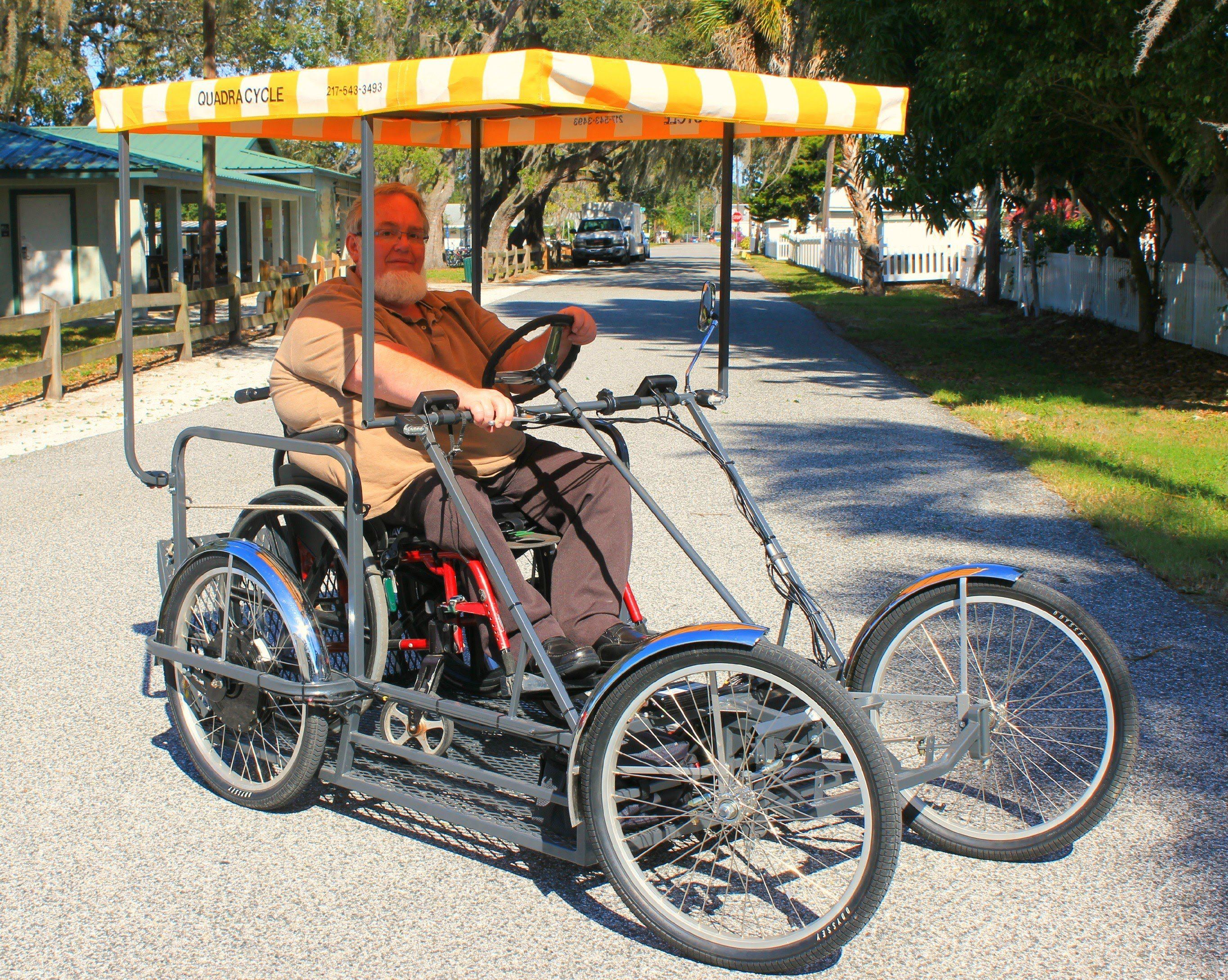 Four Wheel Electric Wheelchair Carrier Bike 4 Bicycle Wheels And Tires Pedal Cars