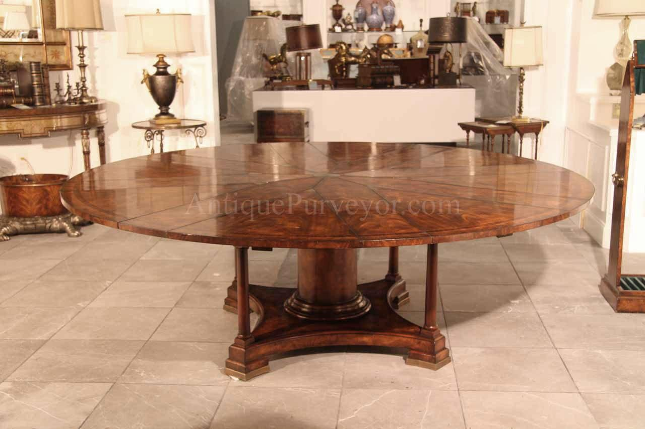 Dining Room Table Round Seats 8 Alluring 84 Inch Round Mahogany Dining Table With 8 Leaves In Place  White Design Inspiration