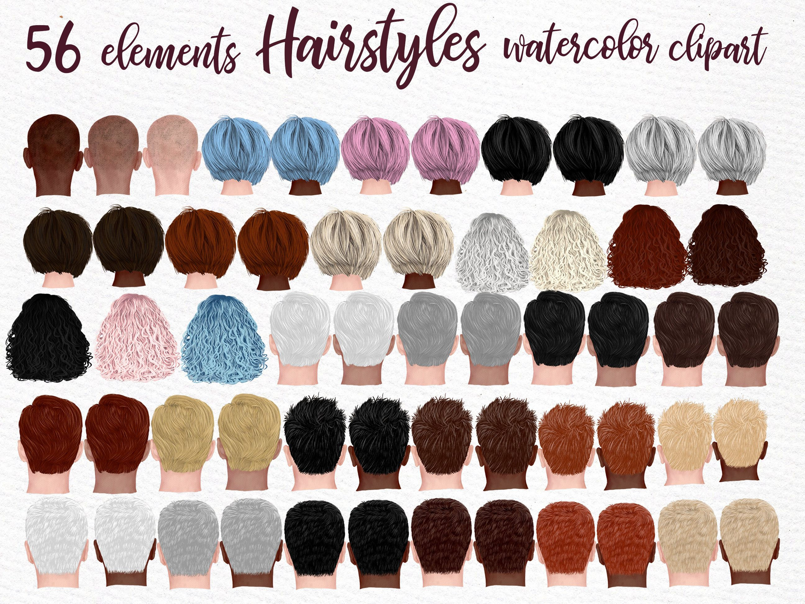 Hairstyles Clipart Gray Hairstyles Girls Etsy In 2021 Hair Clipart Hair Styles Mens Hairstyles