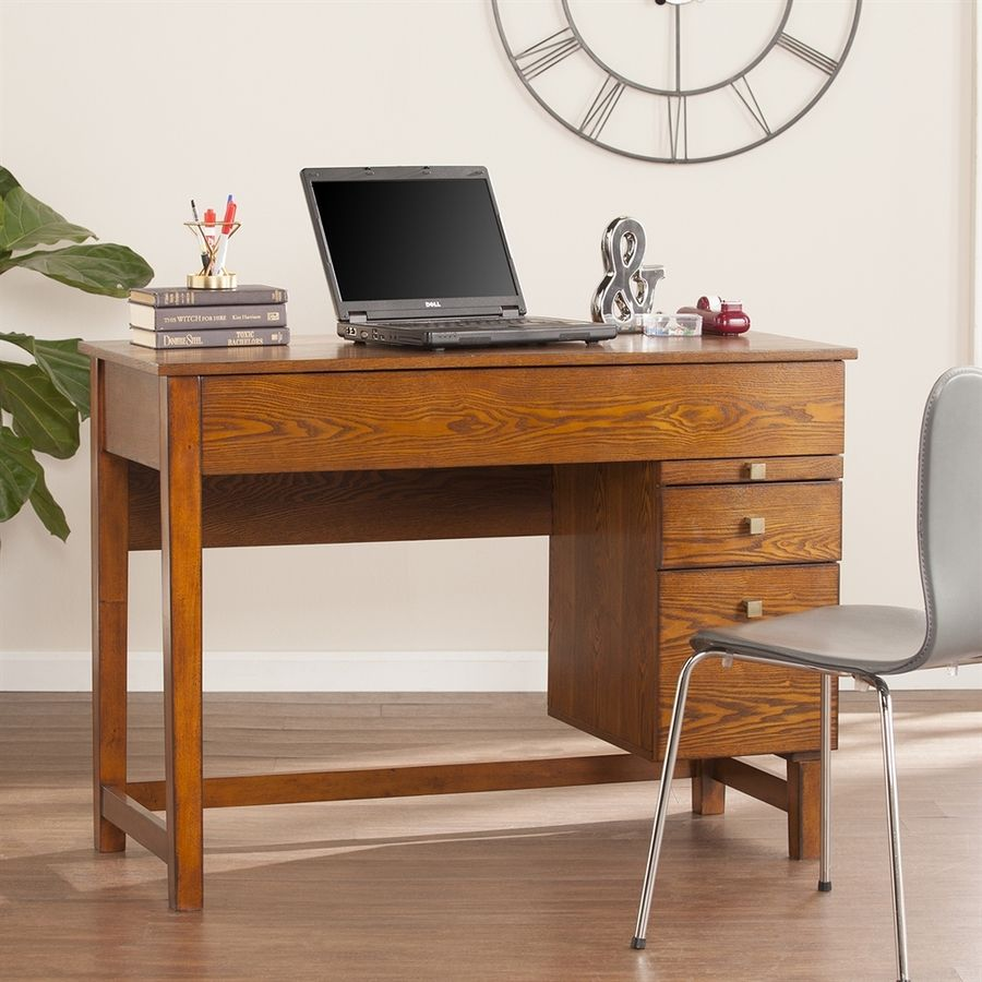 Boston loft furnishings elashor salem antique oak adjustable desk