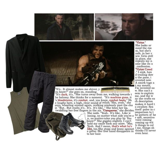 Victor Creed ~ Liev Schreiber by hazard317 on Polyvore featuring polyvore, fashion, style, Corsia, GUSTAVO LINS, Patagonia and Wolverine