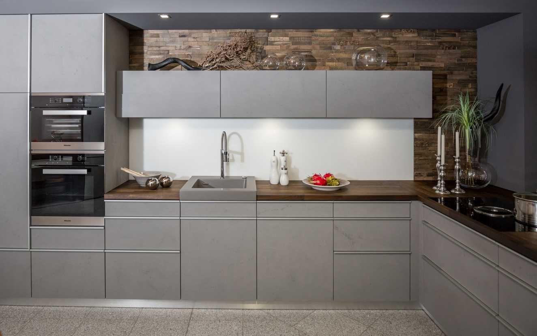 Küchenideen eiche küchen fries küche kitchen beton betonoptik moderne küche grau