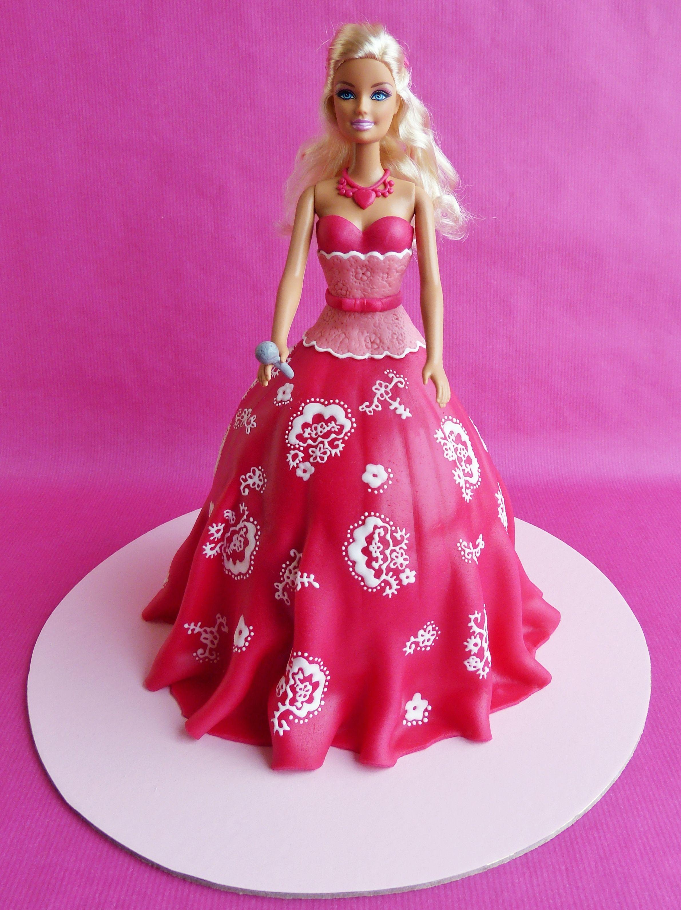 Barbie Cakes Barbie Pop Star Cake  Childrens Birthday Cakes - Birthday cake doll princess