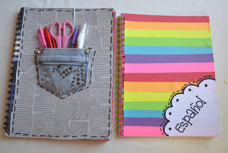 Decora tus cuadernos regreso a clases - Como decorar cuadernos ...